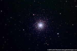 "M3 Globular Star Cluster QHY8 CCD Camera & Homemade 16"" Newt Scope 30 min exposure"
