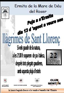 llagrimes de Sant Llorenç
